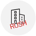 Rush delivery business icon