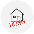 Residential rush icon