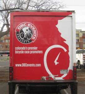 Box truck rear view