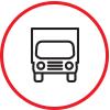 Box truck delivery service icon