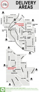 Map of bike delivery areas