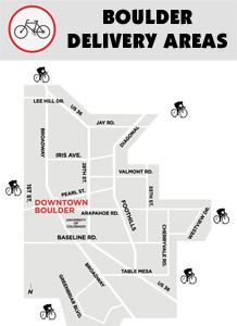 Map of Boulder Bike areas