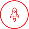 Rocket icon to get started