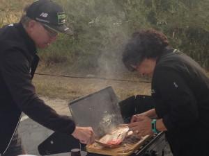 Team grilling