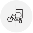 Bike/truck couriers logo